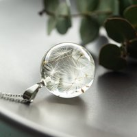 Ing Real Horse Flower Seeds in Crystal Clear Glass Bal Hanger Chain Handmade Jewelry Poison for Women
