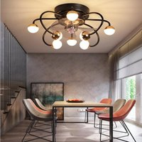 Ceiling Fans Creative Magic Bean Fan Light Living Room Dining Moving Head Nordic Bedroom Chandelier With