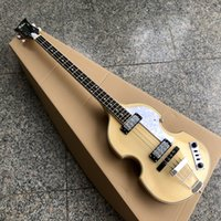 الخشب الطبيعي إنهاء Hofner BB2 BASS Guitar Viol Body Style Basse أعلى جودة HCT Bajo مصمم في ألمانيا All Pickguard Pickguard و Truss