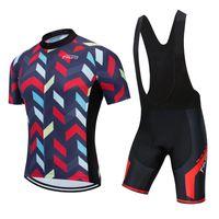 Ensembles de course Vêtements d'été Hommes Vélo Vélo Vélo Vélo Jersey Costume Vélo MTB Jumpssuit Robe Short Short Bib Pants Kit Maillot Gel