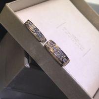 Мода Full CZ Титановый сталь Серебряная Любовь Кольцо Мужчины и Женщины Розовые Золотые кольца для влюбленных Пара Ювелирных Изделий Подарок