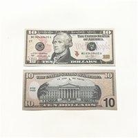 Film Prop Banknote dollar américain 10 20 50 100 euro papier imprimé d'argent de différentes dénominations