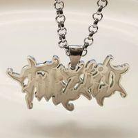 Monili maschili da uomo in argento Twiztid Charms ICP Charms Collana pendente in acciaio inossidabile 4mm 24 pollici Catena rolo