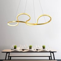 Chandeliers Decoration Gold Color Chain LED Chandelier For Home El Restaurant Crystal Light