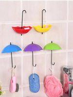 후크 레일 3pcs 자기 접착 우산 우산 벽 도어 옷걸이 키 홀더 다목적 주방 욕실 액세서리에 대 한 다목적