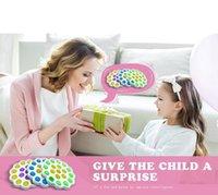 Decompression toy pops12*12*1.5CM size multicolor round popper bubble fingertip sensory childrens gift push its pop music Fidget