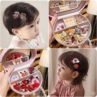 Koreli çocuk saç aksesuarları küçük kız firkete seti headdress firkete prenses bebek takı seti hediye kutusu