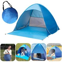 Tents And Shelters 2021 Upgrade Beach Tent UV Sun Shelter Lightweight Shade Drop Automatic