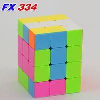 Magic Cube FanXin Puzzle 3x3x4 Cubo 334 Velocidade Educacional Integral 3 * 3 * 4 Twist Wisdom Quebra-cabeça Jogo 433 4x3x3 Magical Cubo Toy