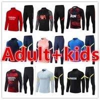 Mens e Kids Kit Futebol Tracksuit Futebol Jerseys Maillot Chandal Futbol Sobrevetimento Pé Jersey Sets 2021 2022 Homens + Crianças Treinadores Treinamento