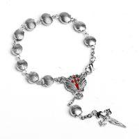 Bracelet en chapelet en forme de coquille Christ Catholic alliage bracelet bracelet Perles de prière