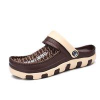 Sandalet -Crocse Cholasbeach Ayakkabıları Erkekler Bahçe Takunya'da Kayma Rahat Su Duşu Literle Crock