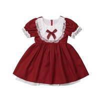 Girl's Dresses Red Dress For Girls Toddler Kids Baby Party Birthday Pageant Wedding Lace Bow Princess Formal Tutu
