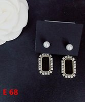 Stud Earing Rhinestone Heart With Letters Print D Earrings For Women Gothic Jewlry Girl Vintage E68