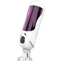 Nouvelle rotation automatique tourbillon Télescopique mastural masturbateur d'interaction vocale sexe machine tasse pipe sucer sex toys pour hommes x0727