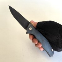 Limited Edition Flipper Model F95 Custom Vicissitudes Stone Wash Titanium Handle S35VN Blade Folding Knife EDC Survival Camping Tactical Outdoor Emergency Tools