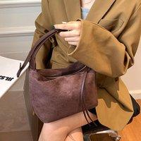 Evening Bags Vintage Matte Leather Women Shoulder Bag Brand Wide Belt Designer Ladies Chain Handbags Trend Hobos Messenger Small Bolsa