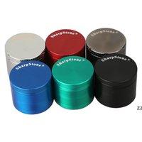 Sharpstone in lega di zinco smerigliatrice mentale colorato 63 * 43mm altri accessori fumatori 4 strati di erbe smerigliatrici HWD8338