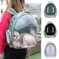 Portable Cat Carrier Bag Breathable Pet Small Dog Backpack Outdoor Travel Space Cage Transparent Carriers,Crates & Houses