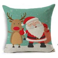 45 * 45 cm Noel Baba Noel Ağacı Kardan Adam Elk Yastık Kılıfı Pamuk Keten Yastık Ev Kanepe Araba Dekor HHE5685