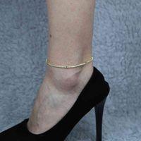 Blue CZ Agre Eye Anklet для женской струны BOHO 2 мм CZ Теннис очарование горный хрусталь лодыжки браслеты ноги ювелирные изделия навалом весь подарок