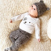 Clothing Sets Born Baby Girls Clothes Outfit Long Sleeve Cartoons Tops+Dots Printed Pants+Hat Infant Toddler