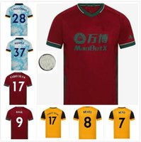 Wolver Football Jerseys Home # 8 Neus # 9 Rual 20/21 Hommes Jaune Adama J.Moutinho Uniformes de chemise de football personnalisée
