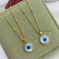Halskette Eye Accessoires Shell Runder Evil Nelace Weibliche Fritillaria Devil Anhänger