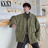Giapponese Harajuku Casual Cappotto di Cargo Men Vintage Tasca Allentato Black Army Giacca Giacca Giacca Maschile Streetwear Primavera Autunno Capispalla Capispalla da uomo Jacke