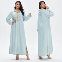 Ramadan Turkey Hooded Muslim Dress Women Abaya Moroccan Kaftan Islamic Clothing Embroidery Djellaba Dubai Jilbab Party Vestidos Ethnic