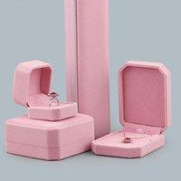 사각형 모양 벨벳 쥬얼리 포장 홀더 핑크 컬러 박스 펜 던 트 목걸이 팔찌 링 귀걸이 상자 디스플레이 장식
