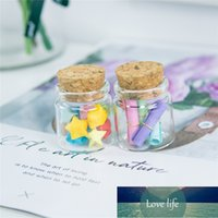 50Pcs 20ml Craft Vials Small Hyaline Glass Container with Corks Creative Handicraft Refillable Empty Gifts Bottles