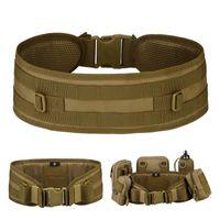 Ajustable Molle MilitarySupport Cintura, CS de escalada al aire libre CS Hunting Girdle, Bolsa de accesorios de 600D Hebilla impermeable de la cintura Soporte de la cintura
