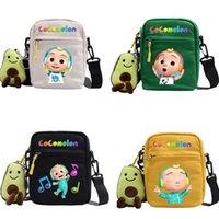 cocomelon jj الأطفال قماش حقيبة الكتف حقيبة الظهر عارضة رسول حبال أكياس الاطفال الهدايا 2 أوامر