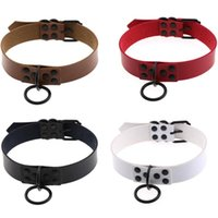 Hiphop Women Men Harness Harajuku Anime Necklaces Metal Black Round Goth Choker Collar Necklace Neck Jewelry Chokers