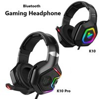 Onikuma K10 Pro 게임 헤드폰 호흡 RGB LED 가벼운 이어폰 휴대 전화 컴퓨터 PC 소음 감소 헤드셋 게임 이어폰 헤드셋 K10Pro