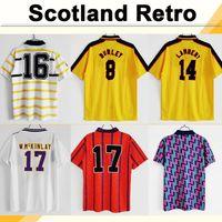 82 86 Dalglish Strachan Miller Hansen Mens Retro Soccer Jerseys 96 98 Scotland Burley Mcnamara Lambert Gallacher Hendry Football Shirt