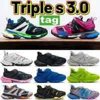 Paris Triple-S 3.0 Повседневная обувь Зеленый белый оранжевый розовый синий черный бегун кроссовки желтый серый тренажер известь мужчин женщин кроссовки