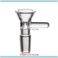 Other Household Sundries Home & Gardenthick Round Funnel Bowl Herb Dry Oil Burners With Handle 3 Types 14Mm 18Mm Male For Smoking Tools Aess