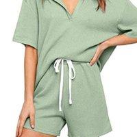 Women's Tracksuits Casual Sport Outfit T-shirt Shorts Set Women Sweatpants Sporty Streetwear Half Sleeve Two Piece