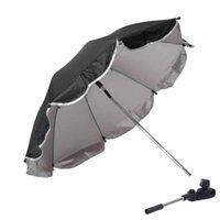 Kinderwagen Teile Zubehör 1 Set Babywagen Parasol Kind Regenschirm Silber Kunststoff UV Sonnenschutz Universal Tragbar