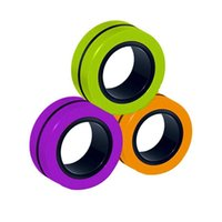 Color Magnetic Bracelet Decompression Deform Rotating Ring Finger Toys Children Adult Decompression Relaxation Party Holiday Supplies Gifts