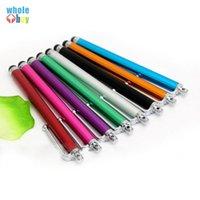 2000 unids / lote Moda universal Metal recto lápiz lápiz lápiz lápiz lápiz para tableta celular tableta tableta 8 colores