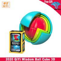 Qiyi Weisheit Ball 3D Cube Puzzle Pädagogische Puzzle-Montage Kinder Pädagogisches Spielzeug für Magie Montage Maze Ball