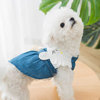 Dog Dresses Jean Summer Breathable Comfortable Pets Skirts Thin and Light Cool Gentlewoman Cute Dogs Dress Fashion Pet Clothes