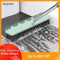 JOYBOS Pool Scrub Brush 2 In 1 Bathroom Wiper Stiff Bristle Window Squeegee Magic Broom Floor Mop Tub Tile Floor Cleaner Brush H0915