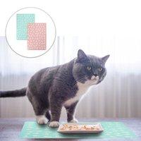 Kennels & Pens 2pcs Pet Dish Pad Dog Food Water Bowl Placemat Cat Feeding Mat Cushion Non-Slip Waterproof Leakage