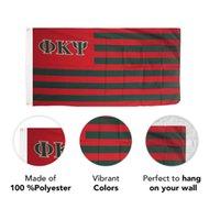 Phi Kappa PSI Nation Brüderlichkeit 3x5ft Flaggen 100D Polyester Griechisch Buchstaben Banner Indoor Outdoor lebendige Farbe Hohe Qualität mit zwei Messingzeilen