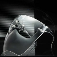 New PC Transparent Clear Mask Visors Protective Glass Anti Fog Face Shield Safety Protection Shield Face