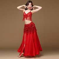 Skirts Belly Dance Women Costume Belt Skirt Hip Wrap Outfit Sequins Tassels Bead Scarf Female Bollywood Chiffon Practice